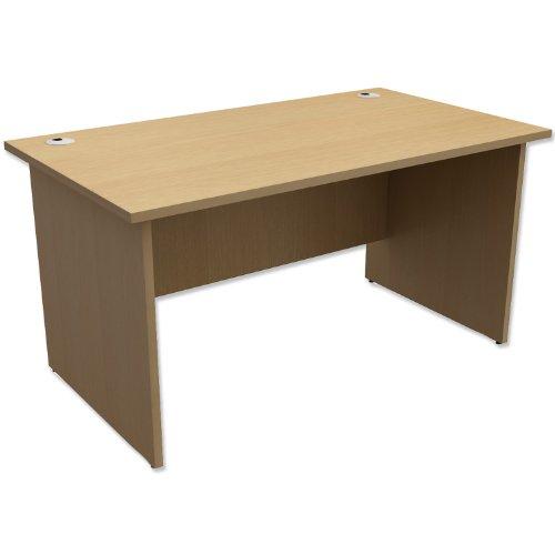 Trexus Classic Desk Panelled Rectangular W1400xD800xH725mm Oak