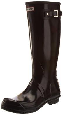 Hunter Women's Original Gloss Wellies Black W23616 3 UK