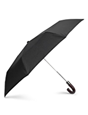 Automatic Open Wooden Crook Handle Umbrella
