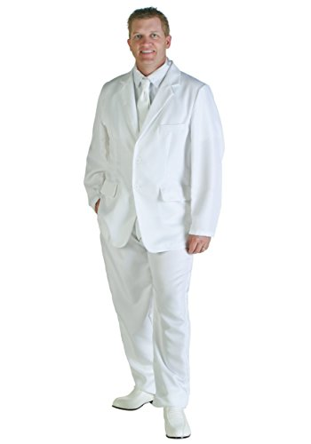 Mens Low Cost White Suit available in sizes S to XL. Ideal for Miami Vice Don Johnson costume.
