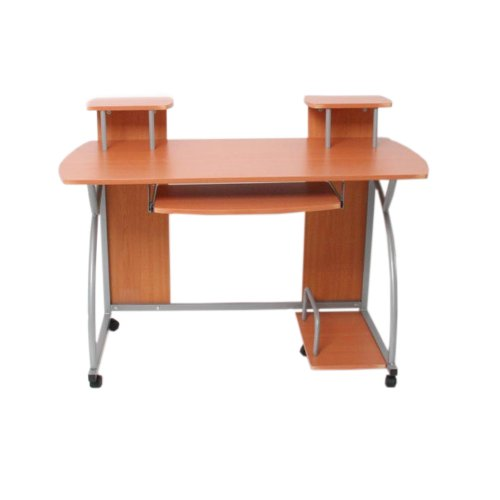 Jugend-Schreibtisch Computertisch Bürotisch Ohio, ca 90x115x55cm ~ Buche günstig kaufen