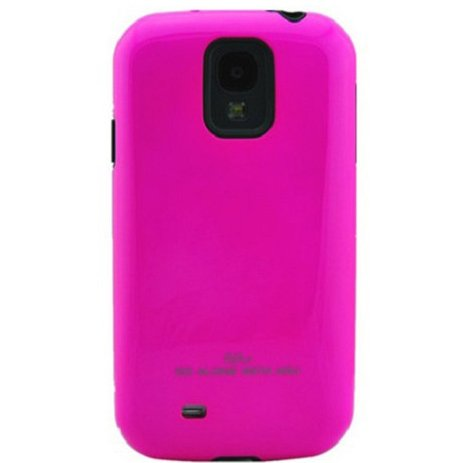 #>>  Samsung Galaxy S4 2 in 1 Card Holder TPU & Polycarbonate Protection Case with 1 Free Anti-dust Plug Stopper-random Color (Hot Pink)