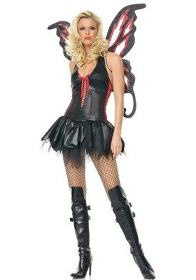 Dark Butterfly Costume - Large - Dress Size 12-14