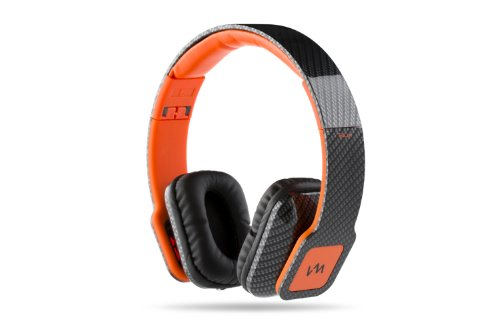 Vm Audio Elux On Ear Dj Stereo Mp3 Iphone Bass Headphones - Carbon Fiber/Orange