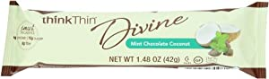 thinkThin Divine Mint Chocolate Coconut, Gluten Free, 1.48-Ounce Bars (Pack of 12)