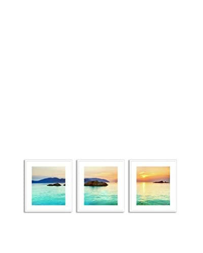 Gallery Direct Ocean Sunrise Triptych
