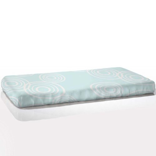 aBaby Organic Fitted Puddle Crib Sheet, Sea Glass Blue