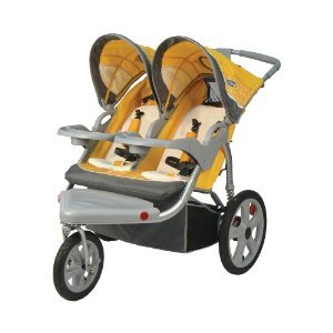 31xdJ8fHdOL InStep Grand Safari Swivel Wheel Double Jogger, Yellow/Gray with Mini Tool Box (fs) | Review