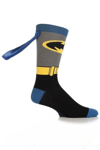 [SockShop Boys' 1 Pair Batman Cape Socks 13.5-4.5 Multicolored] (Batman Dress Socks)