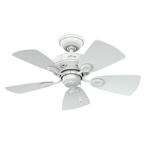 Hunter Fan Company 52089 Watson 34-Inch Snow White Ceiling Fan with Five Snow White/Bleached Oak Blades and a Light Kit (Ceiling Fan Without Blades compare prices)