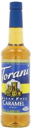 Torani Sugar-Free Syrup, Caramel, 25.4-Ounce Bottles (Pack of 3)