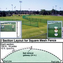 buy Outfield Fencing 150' Roll for sale