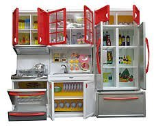Comfort Kitchen Modern Kitchen Battery Operated Play Set With Refrigerator