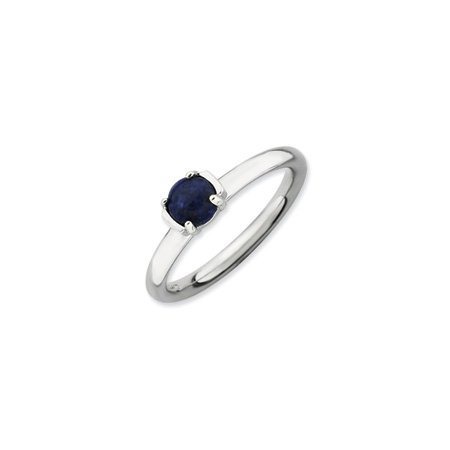 Stackable Expressions : Silver Blue Lapis Ring, size T