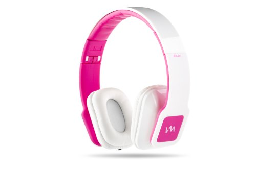Vm Audio Elux On Ear Dj Stereo Mp3 Iphone Ipod Bass Headphones Piano White Pink