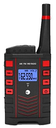 Ambient Weather WR-090 Emergency Pocket AM/FM/WB Weather Alert Radio with Digital Tuner