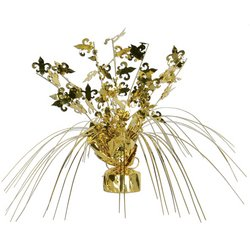 Fleur De Lis Gleam 'N Spray Centerpiece Party Accessory (1 count) (1/Pkg) - 1