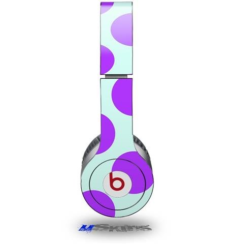 Kearas Polka Dots Purple And Blue Decal Style Skin (Fits Beats Solo Hd Headphones - Headphones Not Included)