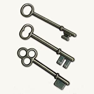 7gypsies 12144 Set of 3 Keys Antique Black