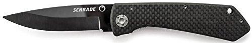 Schrade Sch402L Ceramic Liner Lock Folding 3.4-Inch Knife With Carbon Fiber Handle