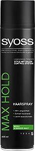 Syoss Max Hold Haarspray, 3er Pack (3 x 400 ml)