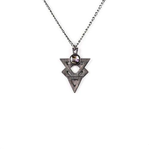 """E il lupo """"Rogue Glyph odio-di-Collana in acciaio, in ardesia, taglio corto, 3D, motivo: Gothic jewellery"""