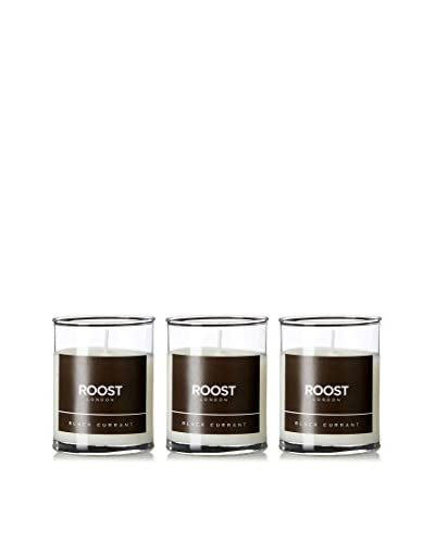 Bluewick Candles Set of 3 Black Currant ROOST London Everyday Scented 3.2-Oz. Votive Candles