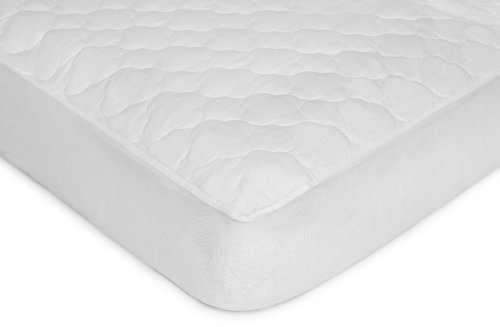 Kids Line Quilted Fitted 4 Ply Crib Pad, White (Discontinued by Manufacturer)
