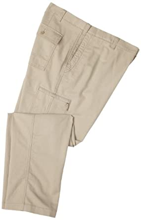 Dockers Mens Big And Tall Comfort Cargo Classic Fit Flat Front Pant, Dark Beige, 46x34