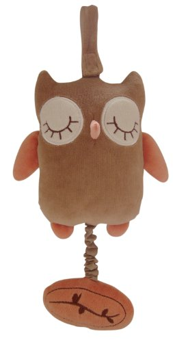 miYim Musical Pull Toy, Brown Owl