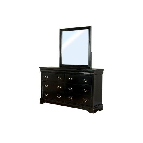 Furniture Of America Balen Classic 2-Piece Dresser And Mirror Set, Black Finish front-996793