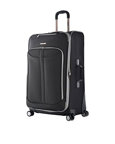 Olympia Luggage  Tuscany 25 Inch Expandable Vertical Rolling Luggage Case,Black