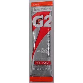 Gatorade Fruit Punch Perform 02 (8-0.52oz packets per canister) 1 canister