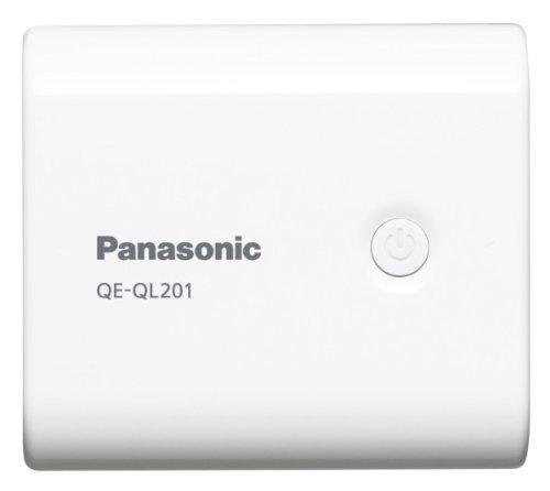 Panasonic モバイルバッテリー 5,400mAh USBモバイル電源 ホワイト QE-QL201-W