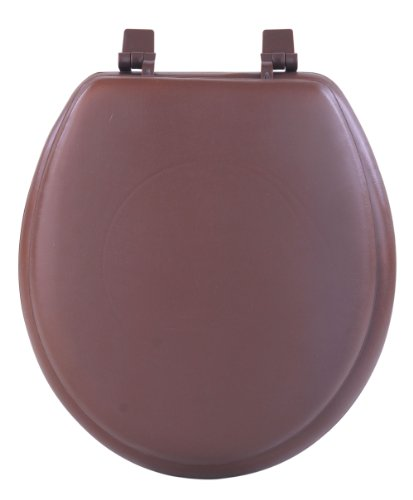 Achim Home Furnishings Tovystch04 17-Inch Fantasia Standard Toilet Seat, Soft Chocolate