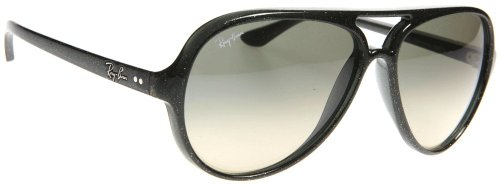 Ray Ban Unisex Rb4125 Cats 5000 Glitter Green Frame/Blue Gradient Yellow Lens Plastic Sunglasses