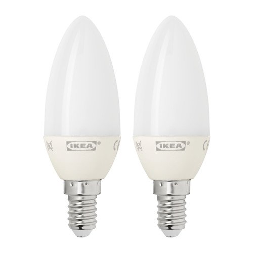 Ikea E12 LED Light Bulb (2 Pack) 200 Lumen 3 Watt Candle (Lumen Led Bulbs compare prices)