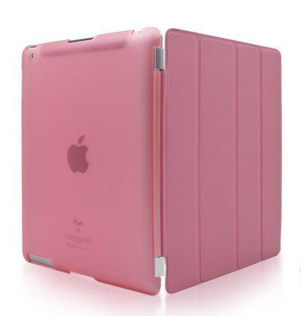 Smart Cover + Cover posteriore per Apple iPad 2 / iPad 3 / iPad 4 generazione Custodia Poliuretano slim più back cover Case più Pennino e Pellicola Omaggio - Rosa