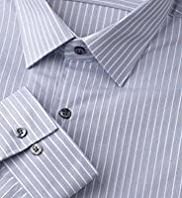 "2"" Longer Autograph Pure Cotton Rope Striped Shirt"