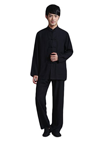 BoutiqueOrient Traditional Chinese Long Sleeve Kung Fu Wing Chun Outfit Tang Suit