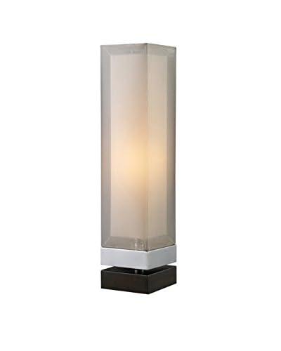 Artistic Lighting Table Lamp, Chrome/Espresso