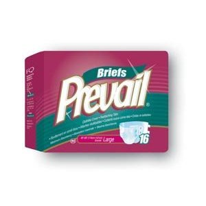 Prevail Adult Briefs - Medium Case of 80 by First Quality