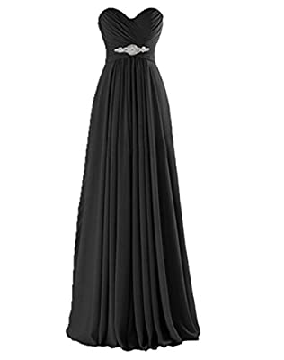 YINHAN Women's Sweetheart Bridesmaid Dresses Long Evening Party Gown