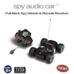 Pull-Back Spy Audio Car with Remote Receiver