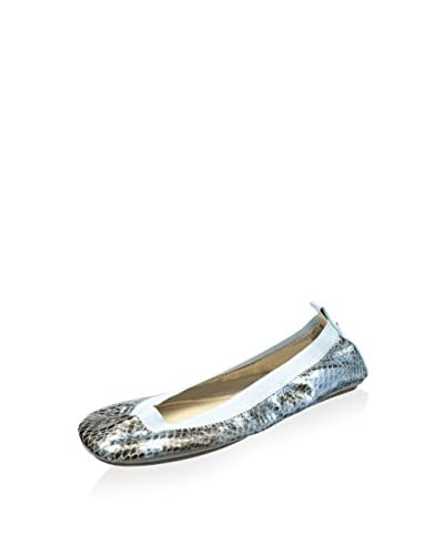 Yosi Samra Women's Samara Metallic Python Foldable Flat