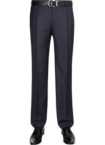 Austin Reed Slim Fit Blue Birdseye Trousers REGULAR MENS 38