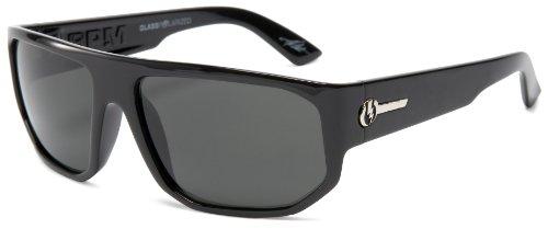 Electric Visual Bpm Polarized Sunglasses,Gloss Black Frame/Grey Glass Lens,One Size
