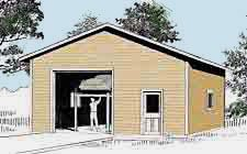 Garage plans 1 bay oversized automotive lift for 2 bay garage plans
