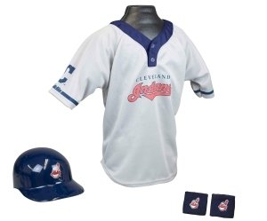 Cleveland Indians Baseball Helmet And Jersey Set by Hall of Fame Memorabilia