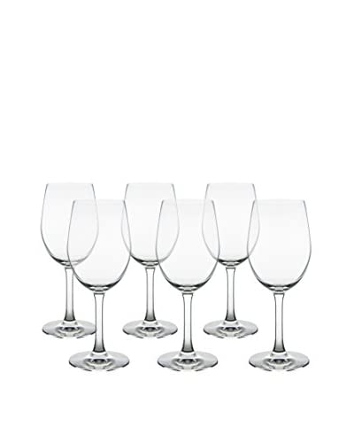 10 Strawberry Street Set of 6 Bali White Wine Glasses, Clear